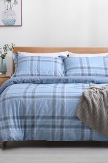 Dreamaker 250Tc Cotton Sateen Printed Quilt Cover Set Finlay - 293175