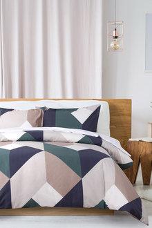 Dreamaker 250Tc Printed Cotton Sateen Quilt Cover Set York - 293176