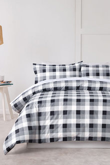 Dreamaker 250Tc Printed Cotton Sateen Quilt Cover Set Chess - 293178