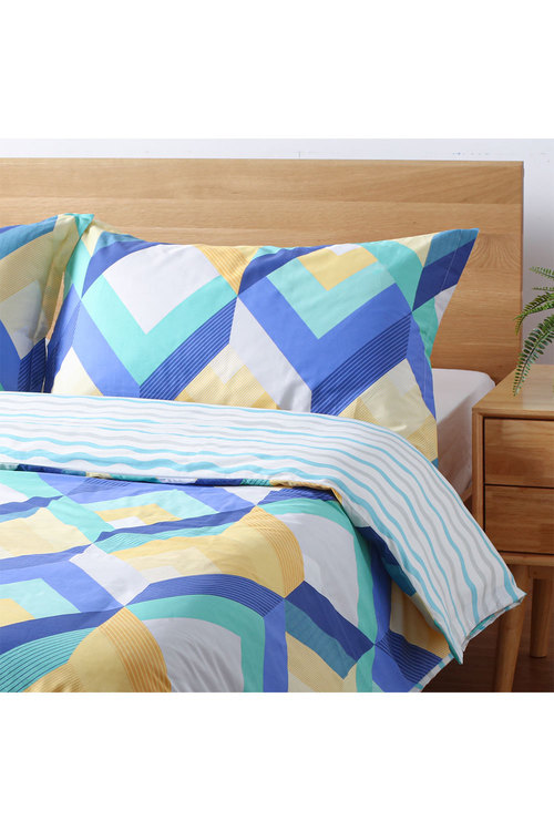 Dreamaker 250Tc Printed Cotton Sateen Quilt Cover Set Yarm
