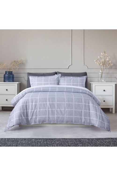 Dreamaker 250Tc Printed Cotton Sateen Quilt Cover Set Flora