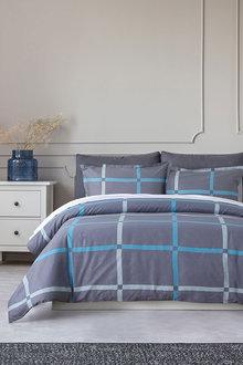 Dreamaker 250Tc Printed Cotton Sateen Quilt Cover Set Flora - 293180