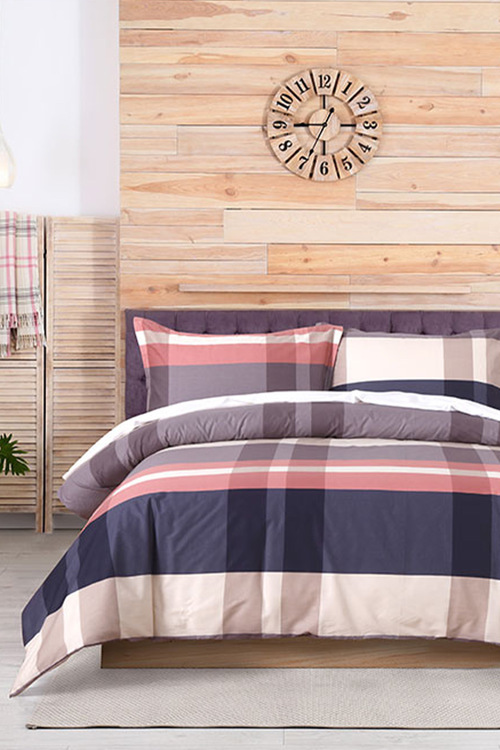 Dreamaker 250Tc Printed Cotton Sateen Quilt Cover Set Northern Light