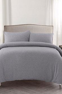Dreamaker Cotton Jersey Quilt Cover Set - 293183