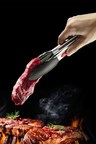 Gourmet Kitchen Stainless Steel and Silicone Heat Resistant Tongs