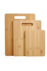 Gourmet Kitchen 3 Piece Natural Bamboo Cutting Board Set