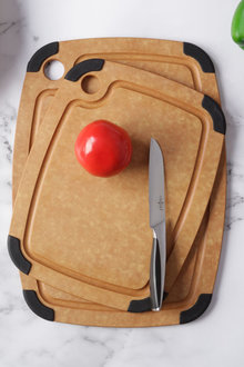 Gourmet Kitchen 2 Piece Wood Fibre Cutting Board with Non Slip Grip - 293210