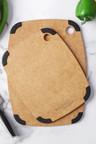 Gourmet Kitchen 2 Piece Wood Fibre Cutting Board with Non Slip Grip