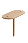 Gourmet Kitchen Picnic Bamboo Double Wine Glass Holder with Screw