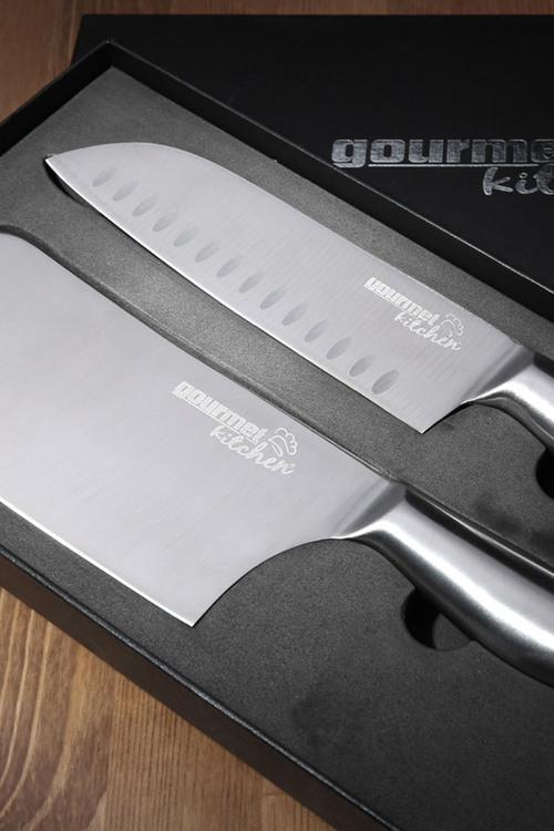 Gourmet Kitchen 2 Piece Stainless Steel Chef Knife Set