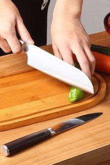 Gourmet Kitchen Chef Series Damascus Steel Santoku Knife - 293215