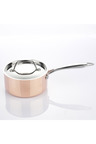 Gourmet Kitchen Chef Series 3 Layer Copper Coated Saucepan with Lid