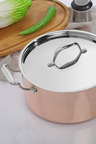 Gourmet Kitchen Chef Series 3 Layer Copper Coated Casserole with Lid