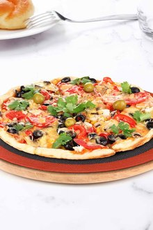 Gourmet Kitchen Round Oven Safe Pizza Steaming and Baking Mat - 293223
