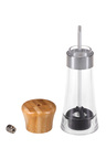 Gourmet Kitchen 2 Piece Salt and Pepper Shaker with Natural Bamboo Top