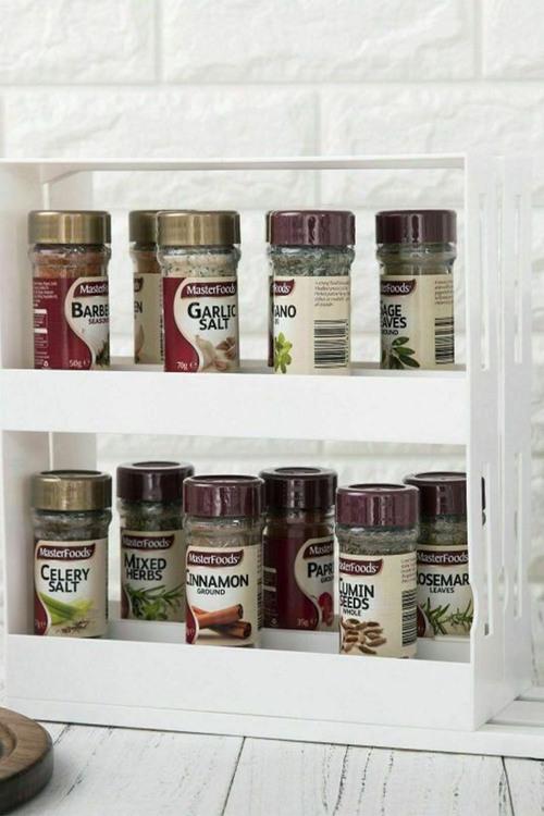 Gourmet Kitchen Slide And Store Spice Jar Cabinet Organiser Rack