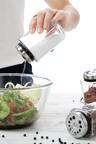 Gourmet Kitchen 4 Glass Jar Spice Stainless Steel Rack Set
