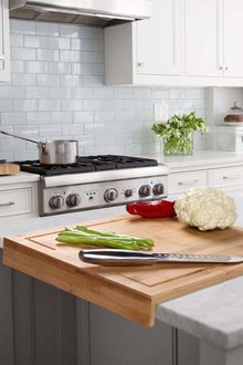 Gourmet Kitchen Bamboo Cutting Board with Counter Edge - 293234