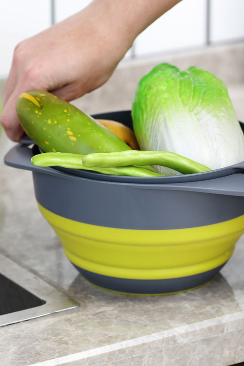 Gourmet Kitchen Collapsible Colander And Mixing Bowl