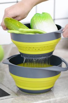 Gourmet Kitchen Collapsible Colander And Mixing Bowl - 293237