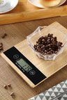 Gourmet Kitchen Bamboo Square Digital Food Scale