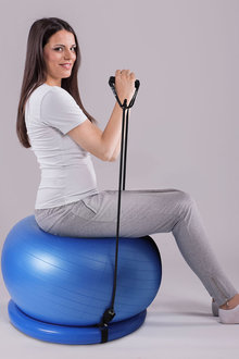 Zen Flex Fitness Training Yoga Ball with Base and Resistance Band - 293371