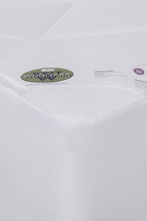 Wooltara Luxury Washable Cotton Japara Wool Rich Mattress Topper