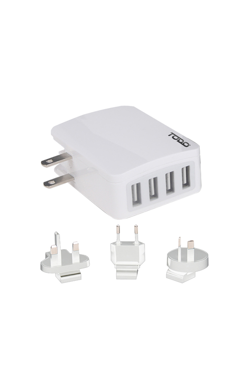 TODO 4 Port Usb Universal Travel Adapter