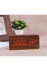 TODO Red Led Wooden Alarm Clock Temperature Display