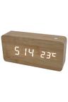 TODO White Led Wooden Alarm Clock Temperature Display