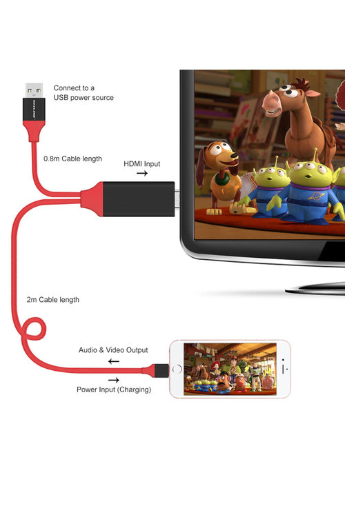 Lightning Pin To Hdmi 1080P Adapter Cable