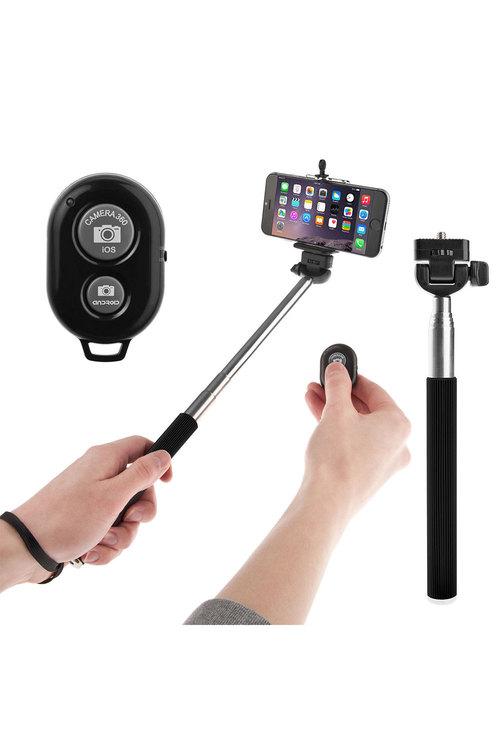 Bluetooth Remote Control Extendable Selfie Stick