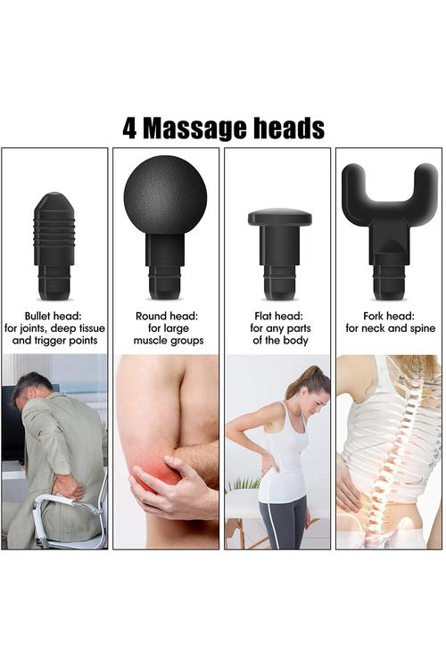 TODO 6 Speed 4 Heads Massage Gun