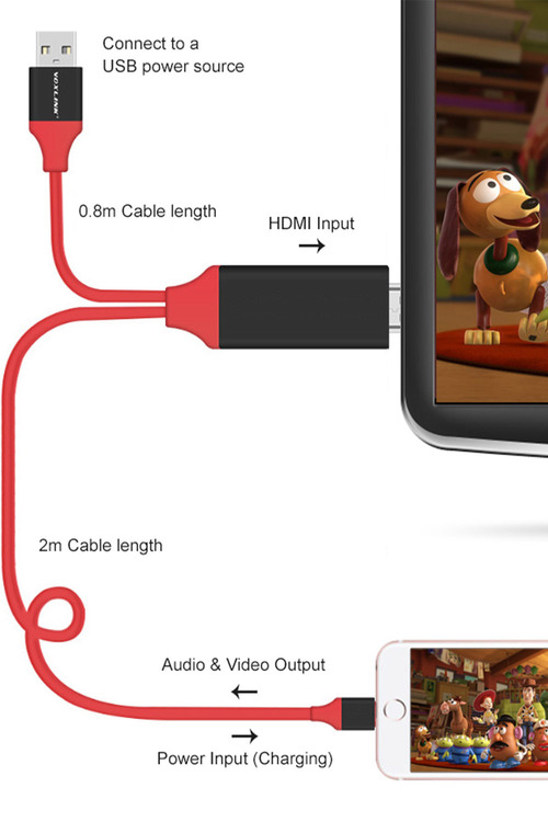 Lightning Pin To HDMI Adapter Cable
