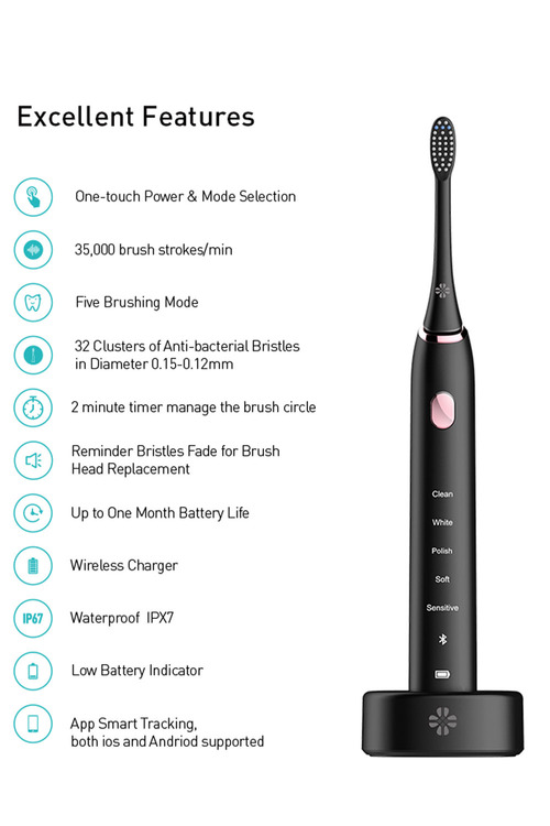 Bluetooth Smart Sonic Electric Toothbrush