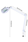 LED Light Desktop Magnifier Glass