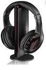 5 In 1 Wireless Multimedia Headset With Microphone