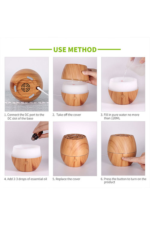 TODO Humidifier Aromatherapy Diffuser Wood