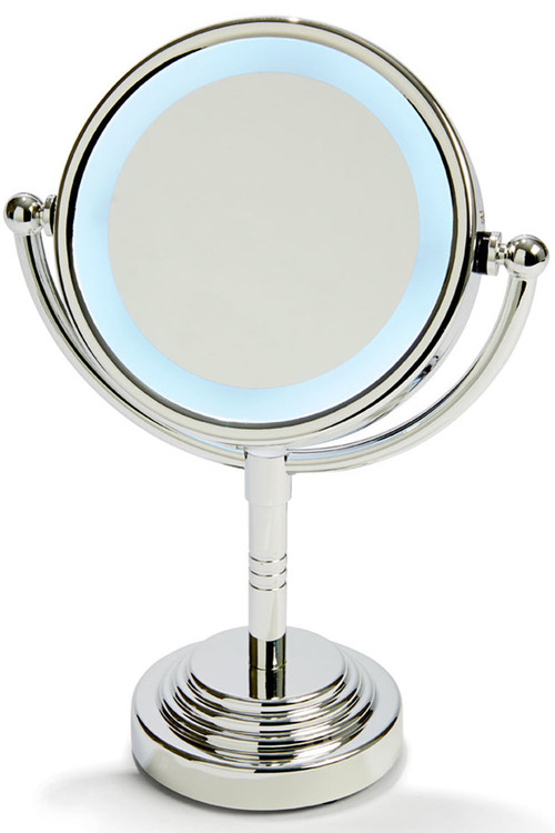 """TODO 5"""" Led Backlit Make Up Mirror Double Side 1X / 5X Magnification"""