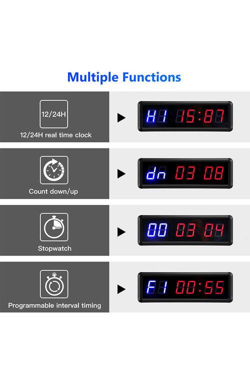 TODO Digital Countdown Timer LED Interval Timer Clock Remote