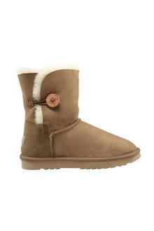 Comfort Me Australian Made Mid Bailey Button Ugg Unisex Boots Chestnut - 294075