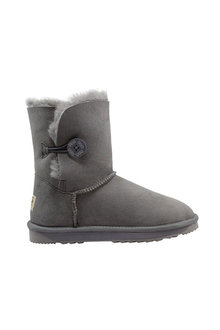 Comfort Me Australian Made Mid Bailey Button Ugg Unisex Boots Grey - 294076