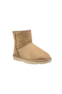 Comfort Me Chestnut Classic Mini Sheepskin Unisex Boots - 294139