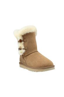 Comfort Me Chestnut 2 Button Shark Sheepskin Unisex Boots - 294143