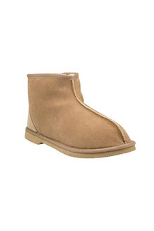 Comfort Me Chestnut Classic Sheepskin Short Unisex Boots - 294144
