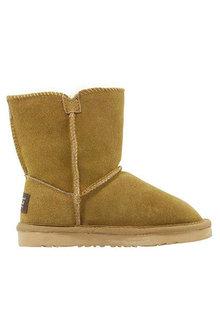 Comfort Me Ugg Kids Button Unisex Boots Bao Chestnut - 294169