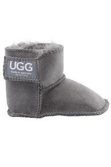 Comfort Me Gripper Dots Baby UGG Unisex Boots Grey - 294230