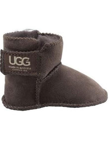 Comfort Me Gripper Dots Baby UGG Unisex Boots Chocolate - 294234