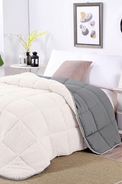 Shangri-La Linen Sherpa Fleece Reversible Comforter Set