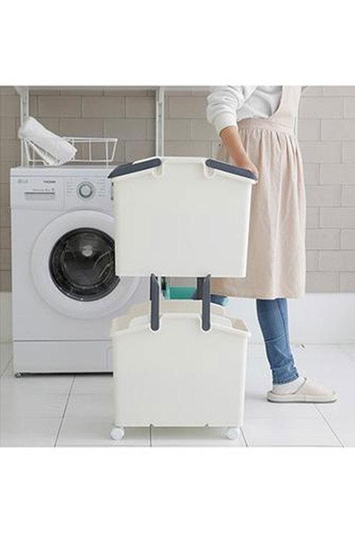 Simply Wholesale 2 Pcs Laundry Basket
